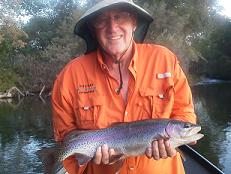 Al B flyfishing with Lee Sacramento River northern cal trout