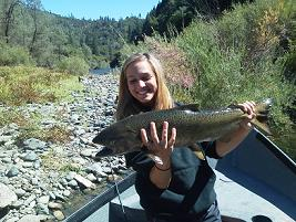 Andy M daughter Salmon Fishing Trinity River