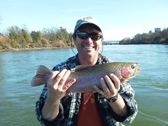 Andy M guided flyfishing trip Sacramento River Trout