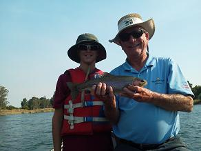 Bill and Grandson Fly Fishing on Sacramento River Northern California