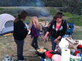 Danielle cooking frybread