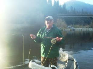Dave flyfishing Trinity River November 2012 Adult Steelhead