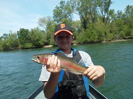 Debbies Son flyfishing sac river trout