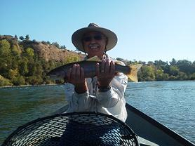 Fly Fishing Rainbow Trout Sun Dial Bridge Float Oct