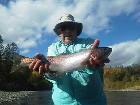 Jerry A Flyfishing Trinity River Steelhead October