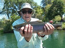 Jerry A fly fishing trip Sacramento River Northern California Agency Sundial Bridge Float