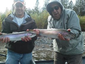 Jerry and Brett Fly Fishing Trinity River October 2012