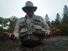 Joe Flyfishing trip trinity river steelhead nov 2012