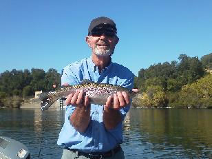 Larry W Sacrament River Sundial Bridge Float Fly fishing Rainbow Trout