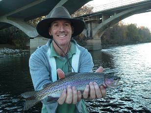 Mike F November 2012 Flyfishing Sacramento River Trout Sundial Bridge