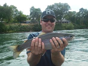 Northern Cal fly fishing sac river mannys trip