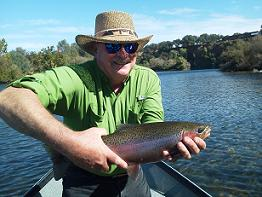 October flyfishing for rainbow trout sac river sundial bridge float