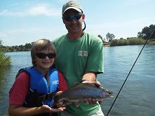 Sac River Fly Fishing Trout Brett and Son Sundial Bridge float