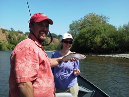 Shawna Fly fishing Sacramento River